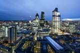 Chapter Spitalfields Student Accommodation View of the City of London from the 33rd Floor Balcony