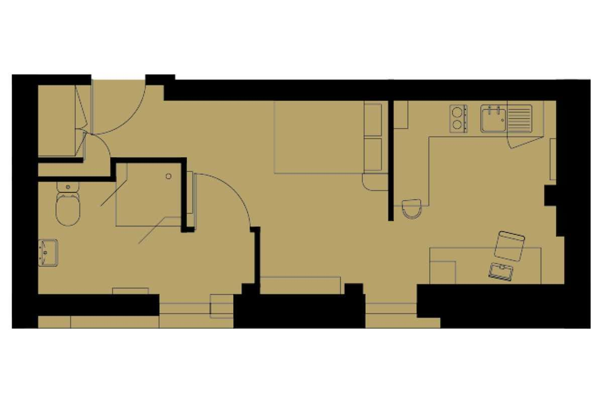 Platinum Studio Floorplan