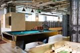 Enjoy a game of pool or table football in the games area