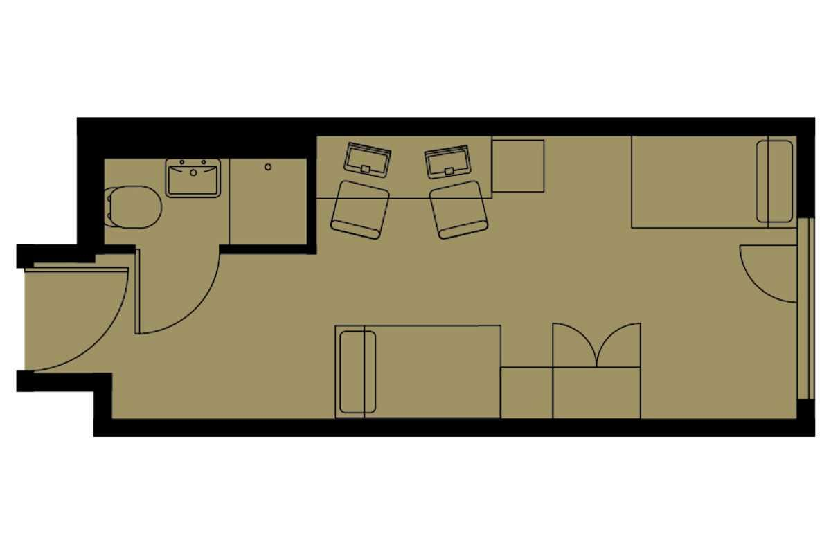 Twin Studio Floorplan