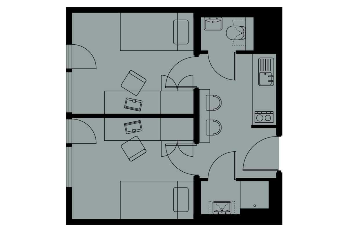Two Bedroom Flat Floorplan