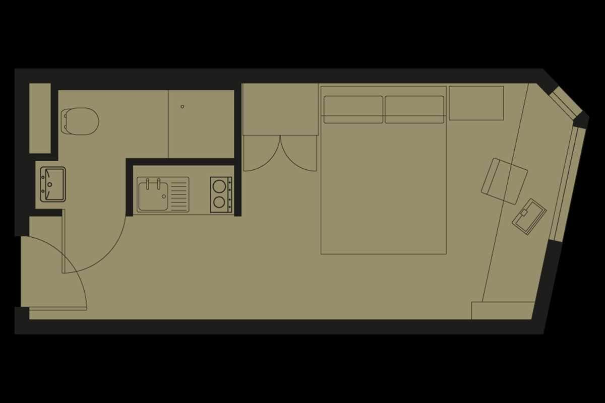 Bronze Studio Floorplan