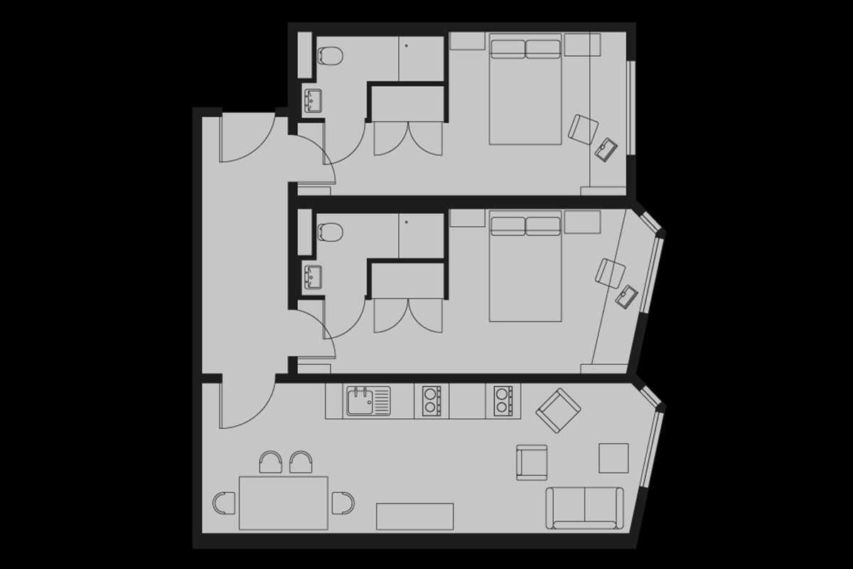 Silver En Suite Floorplan