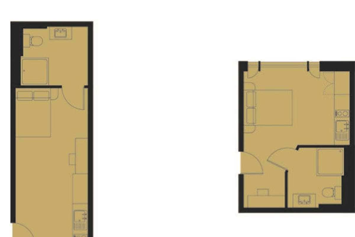 Gold Studio Floorplan