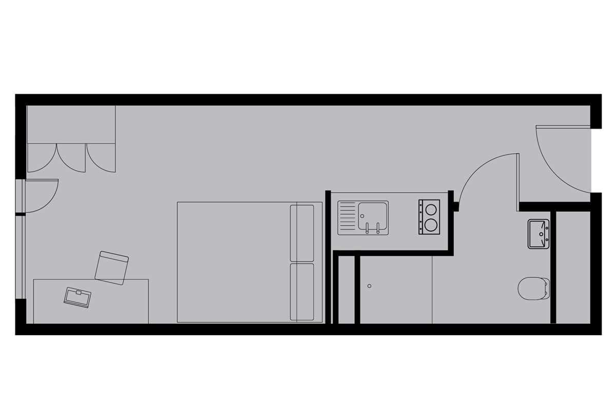 Silver Studio Floor Plan