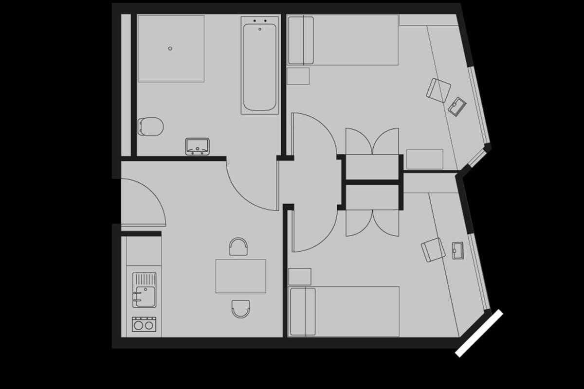 2 Bed Apartment Floorplan