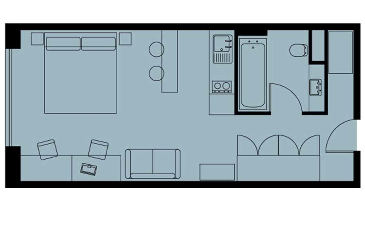 Loft Studio Floorplan