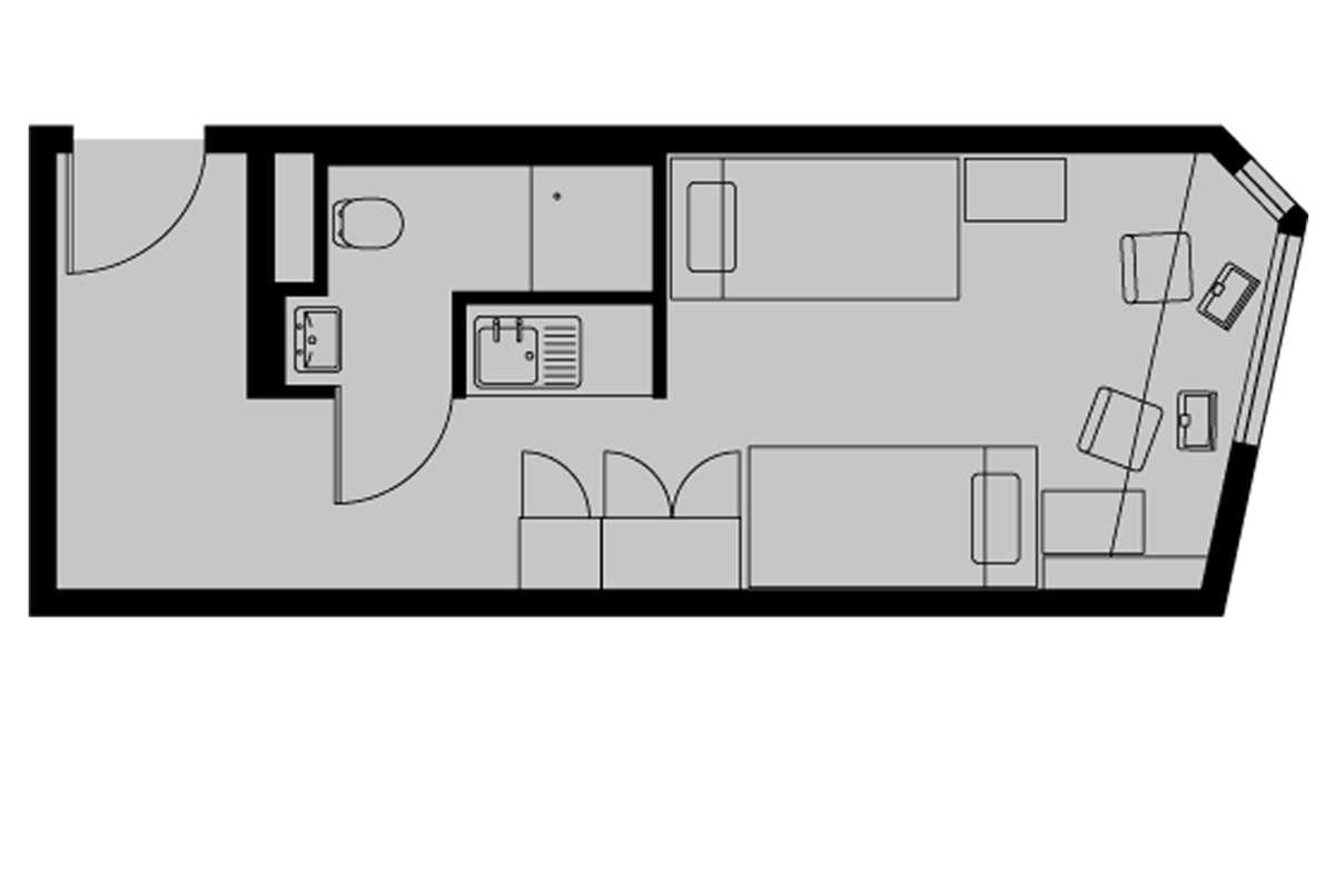 Silver Twin En Suite Floorplan