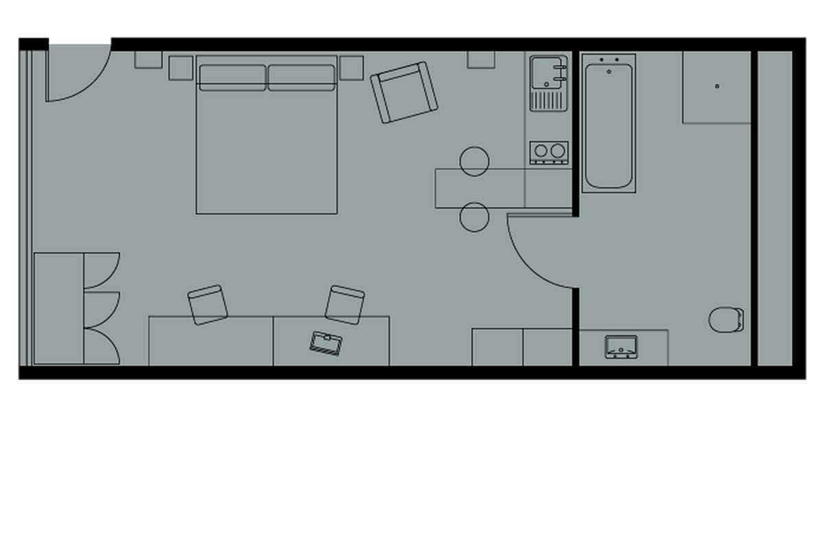 Loft XL Studio Floorplan