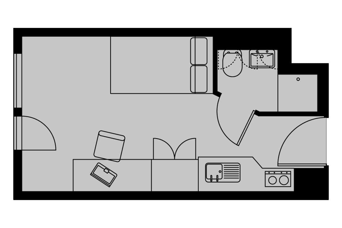 Silver Studio Floorplan - Please note, all floorplans are indicative